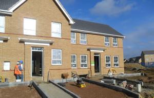 Barratt Development's site in Corby