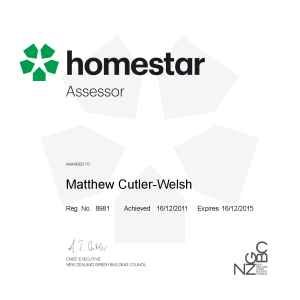 Matthew Cutler-Welsh Homestar Assessor