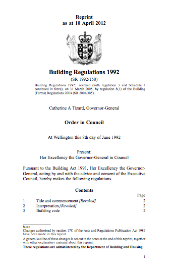 The New Zealand Building Code