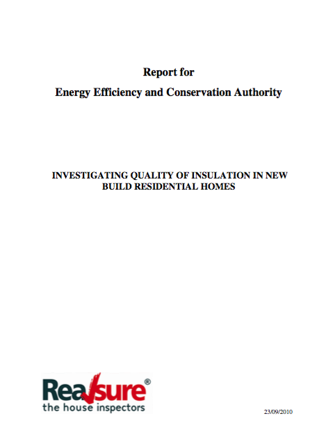 A 2012 study of the quality of insulation installation in new homes found a staggering 100% failure rate.