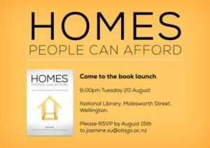Homes People Can Afford Book Launch