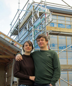 Jo Woods and Shay Brazier, creators and owners of the Zero Energy House