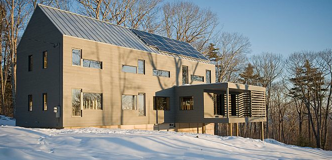 Passive House in the Snow
