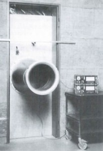 Early blower doors from the 1970s looked like a jet engine plugged into your building.
