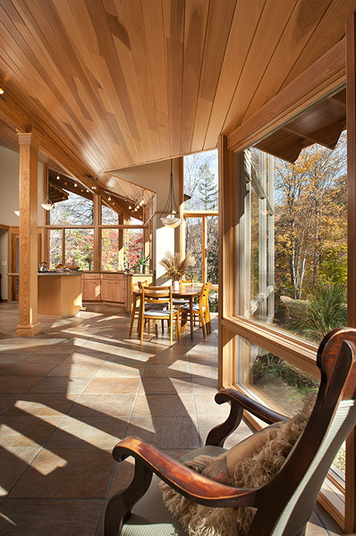 Chris Larson also believes in making passive solar beautiful.