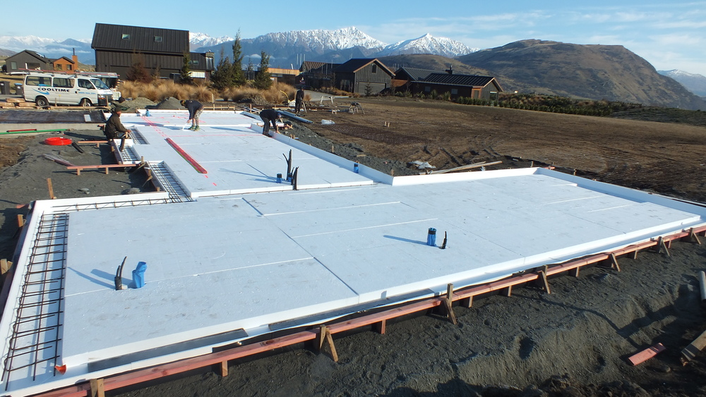 MAXRaft is a fully insulated concrete foundation system.