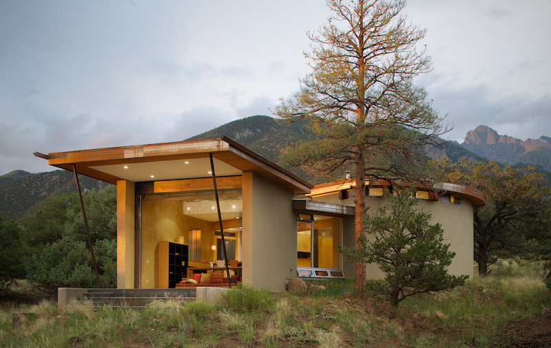 Main Exterior | Strawbale Getaway | Gettliffe Architecture, Boulder, Colorado. Photo courtesy David Lauer Photography.