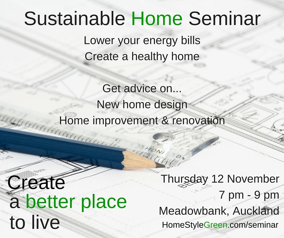 Sustainable Home Seminar