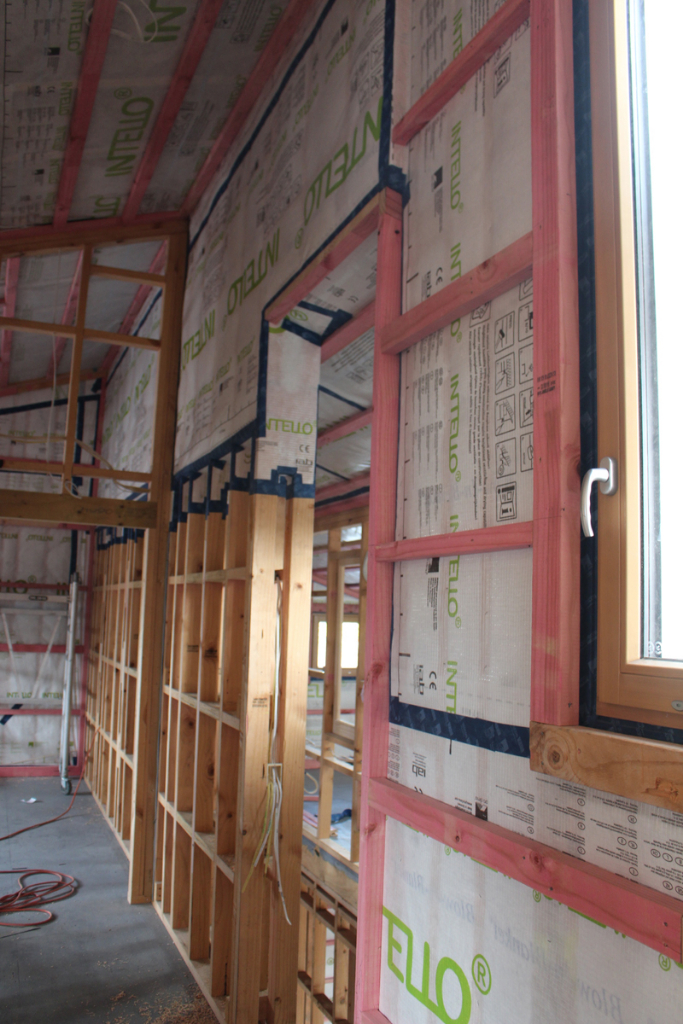 Getting the wrap right. Pro clima Intello being used on Christchurch's first Passive House.
