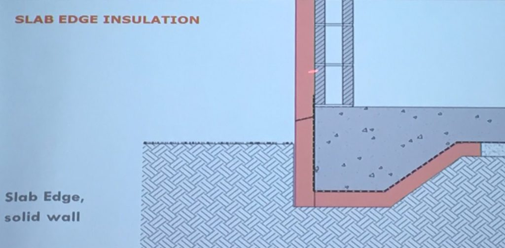 Slab edge insulation - one of my favourite topics!
